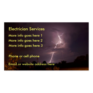 Cartão de visita elétrico do relâmpago do