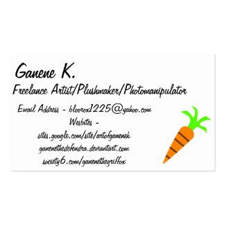 Cartão de visita em linha da cenoura