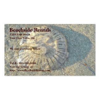 Cartão de visita encalhado das medusa