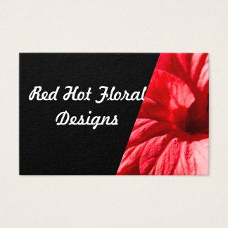 Cartão de visita encarnado do hibiscus