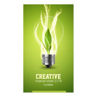 cartão de visita energic criativo do bulbo