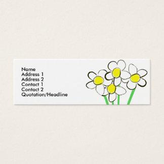 Cartão de visita engraçado da margarida