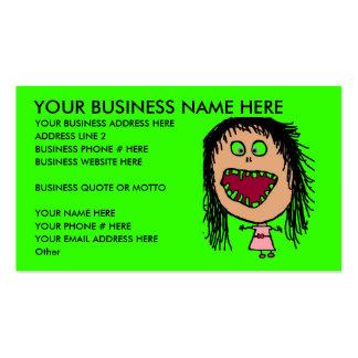 Cartão de visita engraçado do dentista