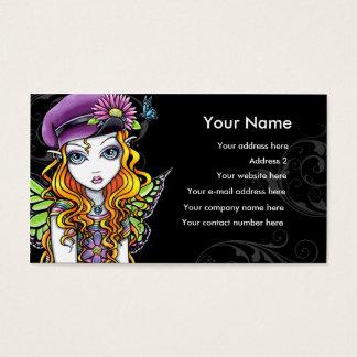 """Cartão de visita """"ensolarado"""" da fada do arco-íris"""