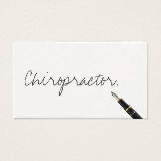 Cartão de visita escrito à mão do Chiropractor