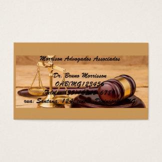 Cartão de visita Escritório de advocacia