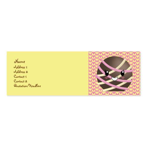 Cartão de visita escuro da trufa de chocolate