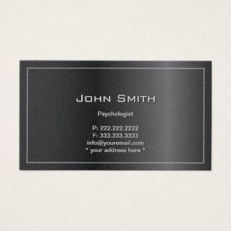 Cartão de visita escuro elegante do psicólogo do