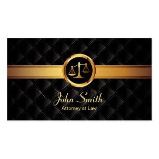 Cartão de visita escuro luxuoso do advogado da