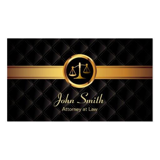 Cartão de visita escuro luxuoso do advogado da lis