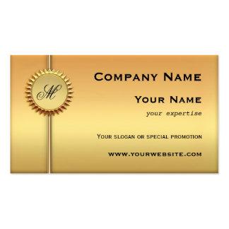 Cartão de visita especial da promoção do ouro