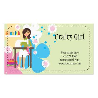 Cartão de visita esperto da menina