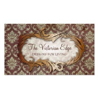 Cartão de visita estético do damasco do Victorian
