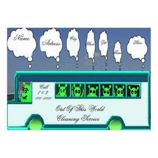 Cartão de visita estrangeiro do ônibus