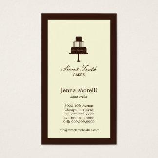 Cartão de visita estratificado do bolo - chocolate