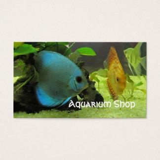 Cartão de visita exótico da loja dos peixes