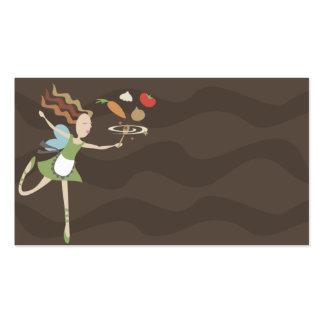 cartão de visita feericamente dos vegetais do cozi