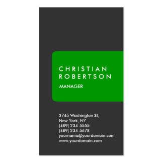 Cartão de visita feito-à-medida padrão na moda ver