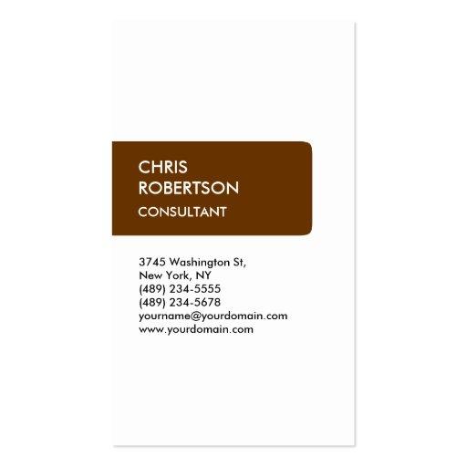 Cartão de visita feito-à-medida vertical na moda