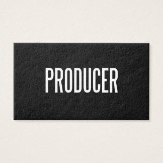 Cartão de visita feito sob encomenda do produtor
