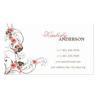 Cartão de visita feito sob encomenda elegante de
