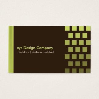 Cartão de visita feito sob encomenda moderno do