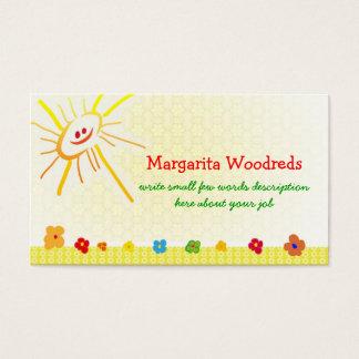 cartão de visita feliz das crianças