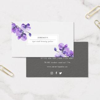 Cartão de visita feminino das orquídeas bonito