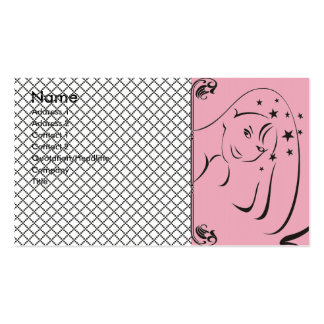 Cartão de visita feminino do salão de beleza