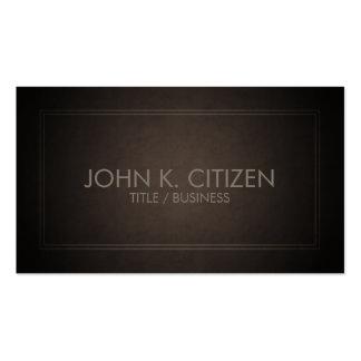 Cartão de visita fino clássico de Brown da beira