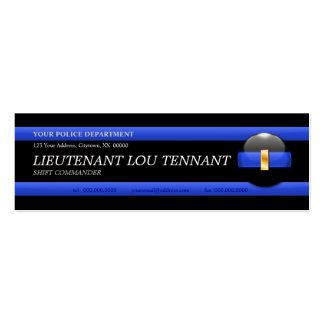 Cartão de visita fino do tenente Costume de Blue