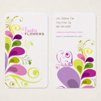 Cartão de visita floral colorido da natureza das