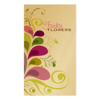 Cartão de visita floral colorido da natureza das f