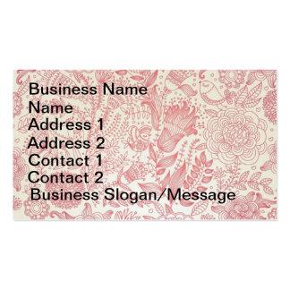 Cartão de visita floral cor-de-rosa do vetor