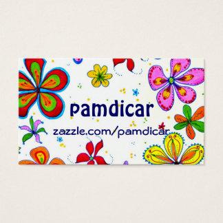 Cartão de visita floral da arte