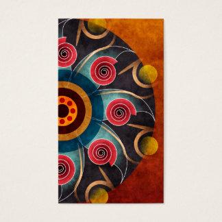 Cartão de visita floral da arte do vetor do