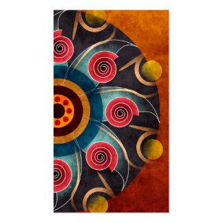 Cartão de visita floral da arte do vetor do abstra