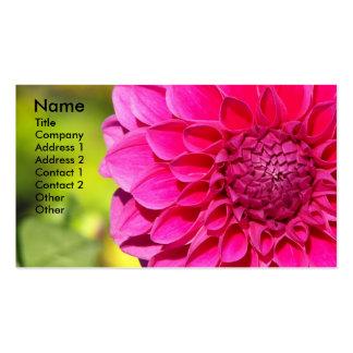 Cartão de visita floral da foto da dália