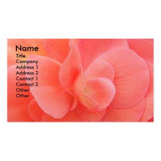 Cartão de visita floral da foto das pétalas macias