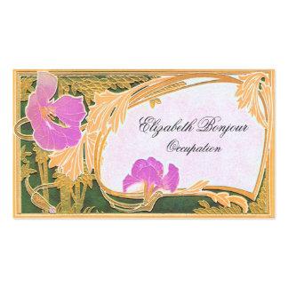 Cartão de visita floral do ~