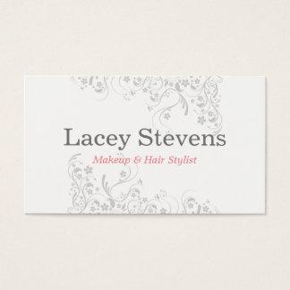 Cartão de visita floral do cabeleireiro do