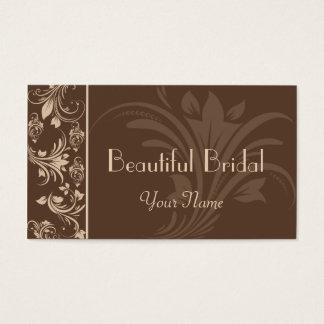 Cartão de visita floral do rolo do chocolate e do