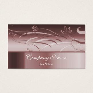 Cartão de visita floral do rubi