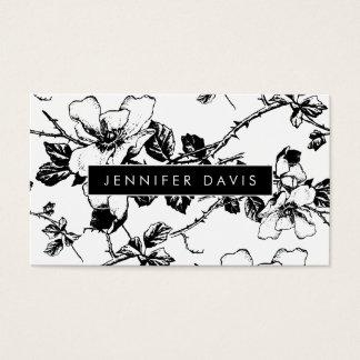 Cartão de visita floral do teste padrão