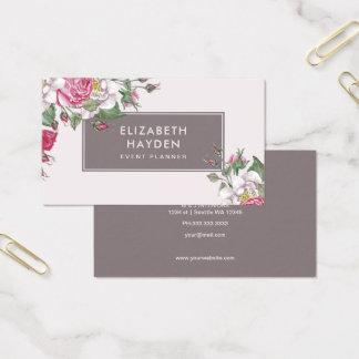 Cartão de visita floral do vintage bonito