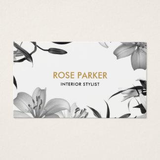 Cartão de visita floral dos lírios