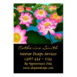 Cartão de visita floral elegante de Lotus