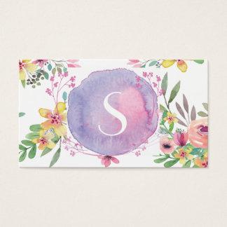 Cartão de visita floral moderno