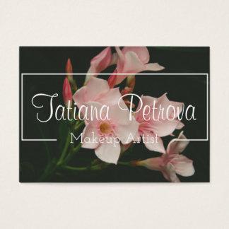 Cartão de visita floral personalizado do