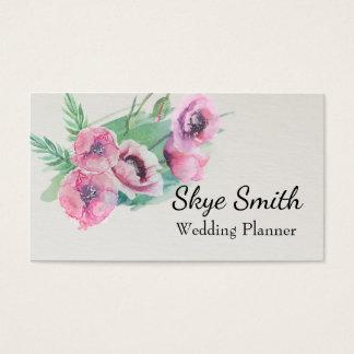 Cartão de visita floral personalizado do padrão da